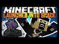 Minecraft: LAUNCHED INTO SPACE! (Ender Crystal Cannon)