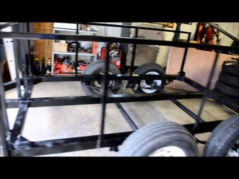 BUILDING  TANDEM  AXLE  TRAILER