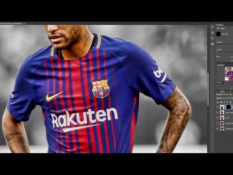 Neymar to PSG kitswap football edit | Photoshop cc 2017