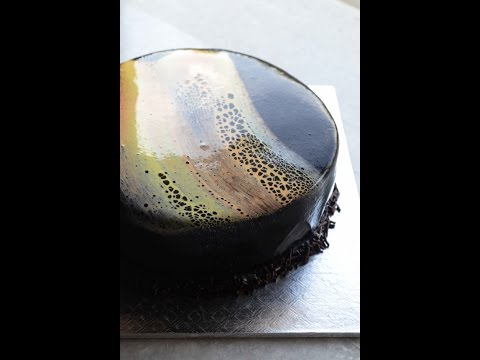 How To Make Leopard Print Mirror Glaze on  Cakes - Video Recipe