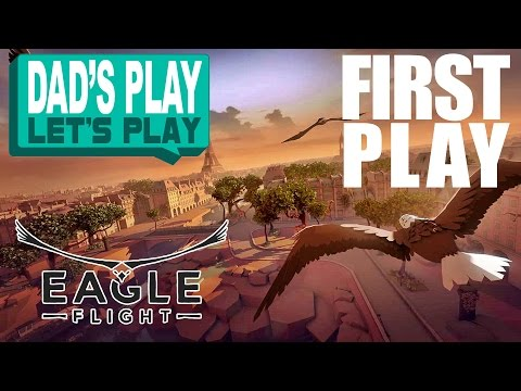 Playstation VR (PSVR) - Dad's Play Let's Play First Play - Eagle Flight