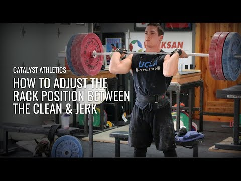 How to Adjust The Rack Position between the Clean and Jerk - Olympic Weightlifting