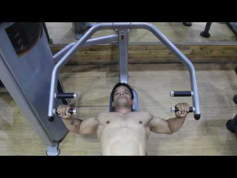 How to do Machine Flat Bench Press - Chest press workout
