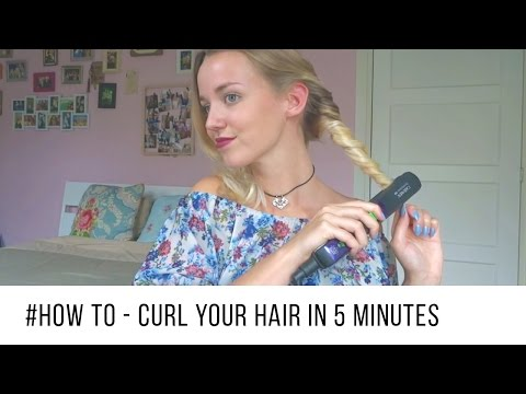 How to Curl Your Hair in 5 Minutes | Quick & Easy ♡