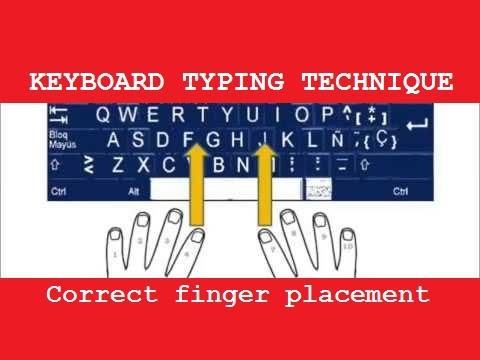 Easy keyboard typing tutorial - proper & fast