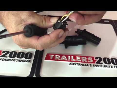 How to wire a 7pin round Trailer plug
