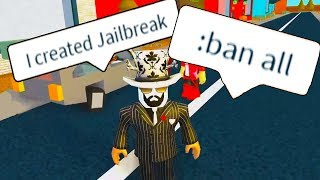TROLLING AS THE OWNER OF JAILBREAK WITH ADMIN COMMANDS (Roblox)