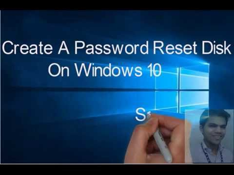 Create A Password Reset Disk On windows 10/ 8.1