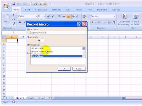 Excel VBA - Record and Run Excel Macro