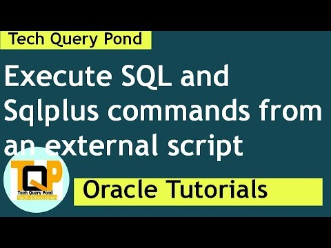 Oracle tutorial : Oracle DBA  How to execute sql script  using sqlplus command line