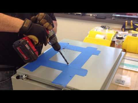 Cutting a Square Hole in an Electrical Enclosure