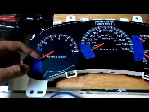 LEDs in GM gauge cluster, Chevy trailblazer(High detail)!