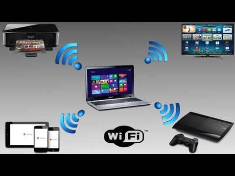 How to turn your wired network connection into a WiFi Access Point  [HD + Narration]