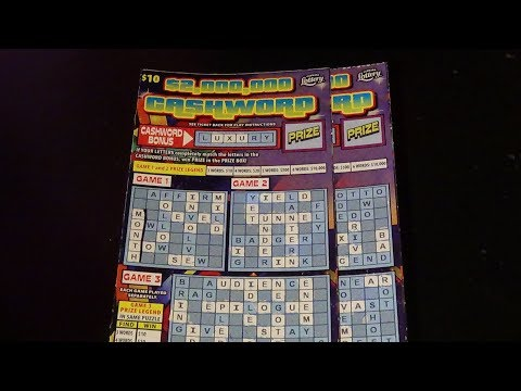 The Early Word 16: $2M CASHWORD FL Lottery Crossword Scratch Tickets
