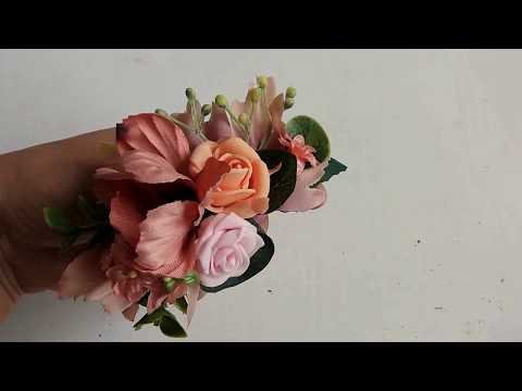 Sponka | Hair clip made of artificial flowers