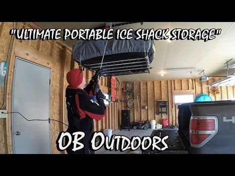 Ultimate Portable Ice Shanty Storage - OB Outdoors