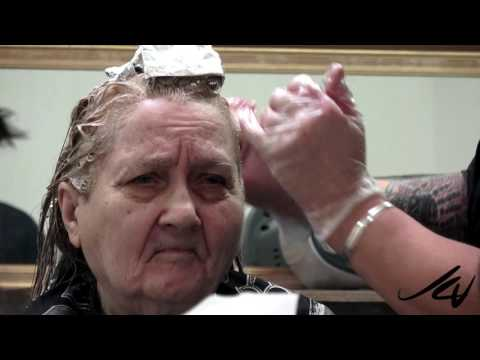 Caring for the elderly, my mom got her hair colored -  YouTube