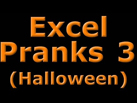 Excel Pranks 3 - Halloween Colored Tabs Light Show