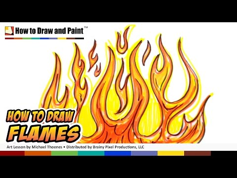 How to Draw Flames - Graffiti Fire Drawing Lesson - Art for Kids MAT