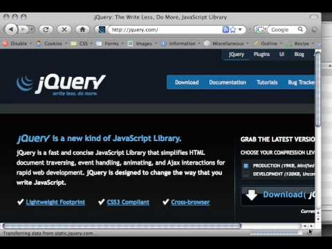 Getting JQuery Part 1