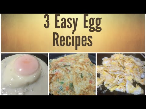 Easy Egg Fry 3 Way Recipe |Omelet Egg|Half Fry Egg|scramble Egg|Breakfast Eggs Recipe in Urdu/Hindi
