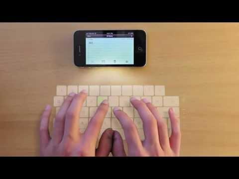 Laser keyboard & Holographic display (iPhone 4) VFX