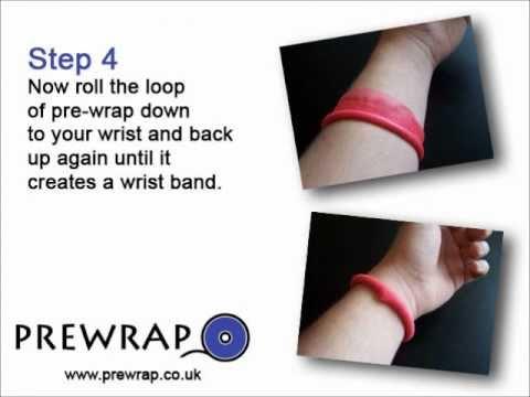 Make a hair bobble/tie using Pre-wrap