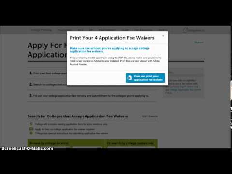 College Board College Application Fee Waivers Video