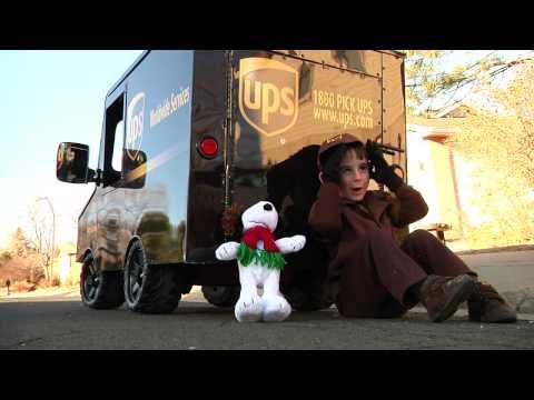 Little boy becomes mini UPS driver