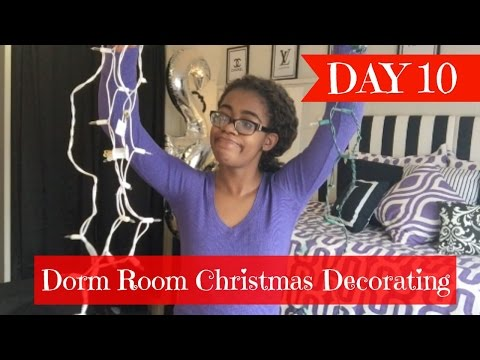 Dorm Room Christmas Decorating || Day 10