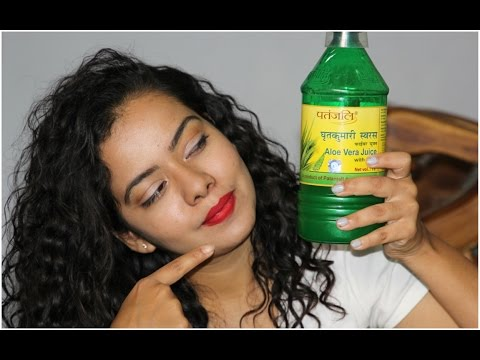 How I use PATANJALI ALOE VERA JUICE  For Healthy and Acne free skin