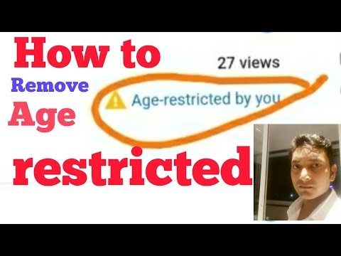 how to remove age restrictions on youtube by rgtech technical
