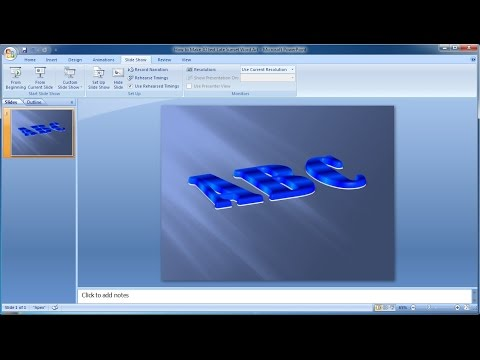 Powerpoint training |How to Make 3D text Sapphire Word Art in Powerpoint