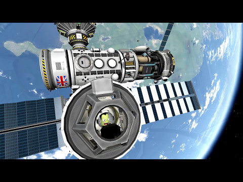 KSP Music Video - Building a Space Station with a SSTO!