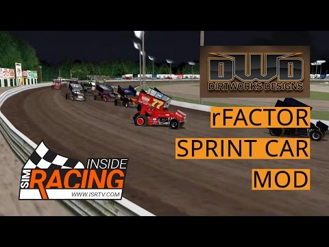 DirtWorks Designs Sprint Car Mod for rFactor at Volusia Test Drive