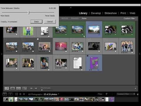 4a Создание стеков (Stack). Удаление забракованных фотографий (Delete Rejected Photos...)