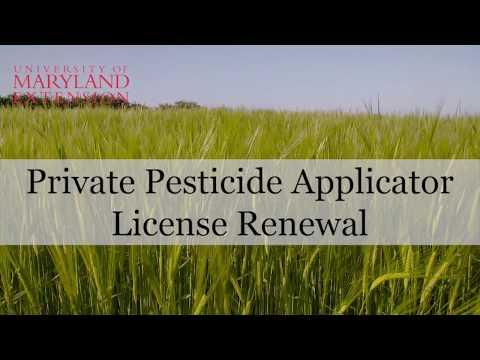 MDA Online Private Pesticide License Renewal