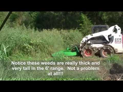135 RSW Homemade Skid Steer Hydraulic Brush Hog