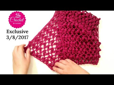 HOW TO CROCHET A SCARF SHAWL COWL WITH NEW EASY STITCH #4 SEASON l☕ THE CROCHET SHOP