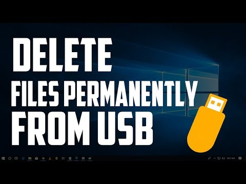 How To Delete Your Files Permanently From Your USB/PenDrive | So No One Can Ever Recover It