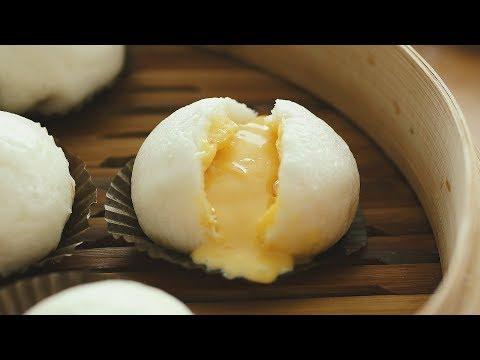 Salted Egg Custard Steamed Buns - 黃金流沙包