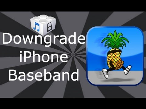 How To Downgrade iPhone Baseband 06.15 To 05.13