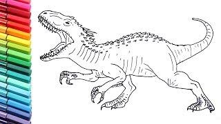 how to draw indoraptor jurassic world fallen kingdom drawing tutorial fallen kingdom drawing tutorial