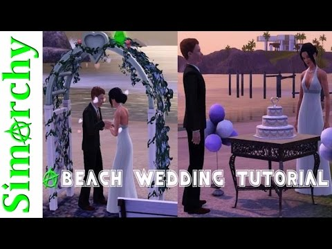 How To Setup a Beach Wedding / Build and Buy on Community Lot - The Sims 3 Tutorial