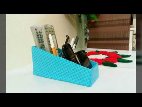 How To Make Remote Holder/Phone Holder/pen Holder  Remote/Phone/Pen Organizer Best Out of Waste  DIY