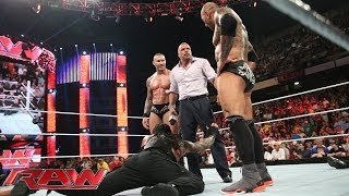 The Shield competes in a 11-on-3 Handicap Match: Raw, April 14, 2014