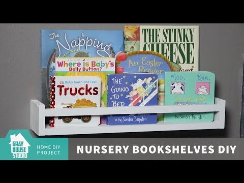 Nursery Bookshelves // DIY