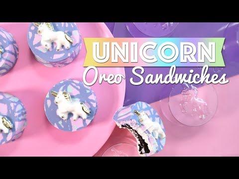 Unicorn Oreo Sandwiches Tutorial