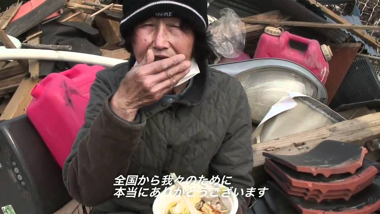 石巻ヨークベニマル湊鹿妻店前 チャンポン炊き出し