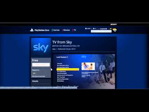 TV from Sky PS3